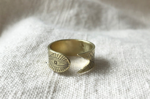 AJNA open wrap ring