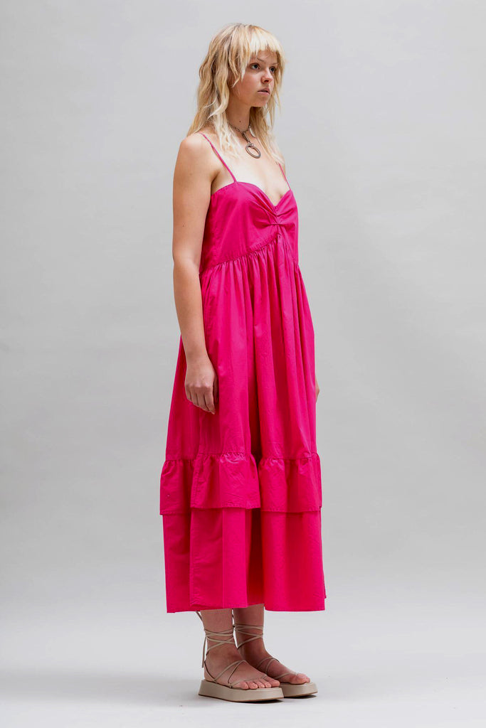 Toit Volant Bandeau Tier Ruffle Dress