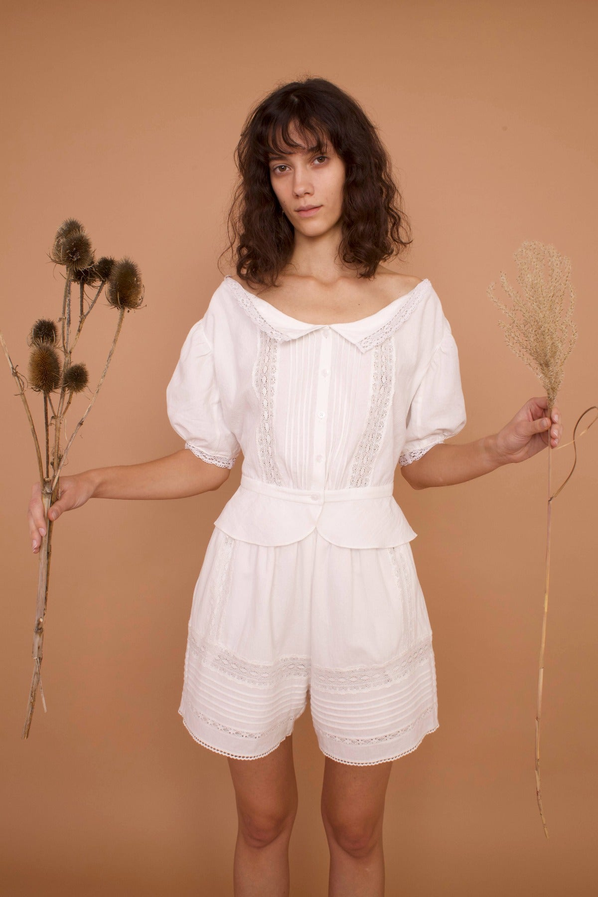 Meadows Mallow Shirt in White