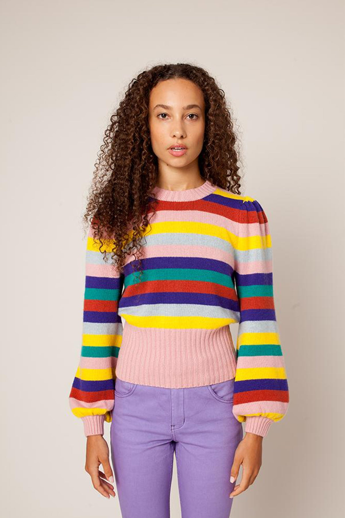 Rachel Antonoff Bridget Puff Sleeve Top