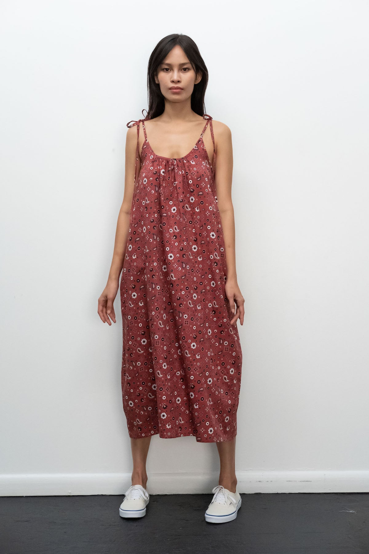 Kurt Lyle x Toit Volant Shanne Dress in Rust Bandana
