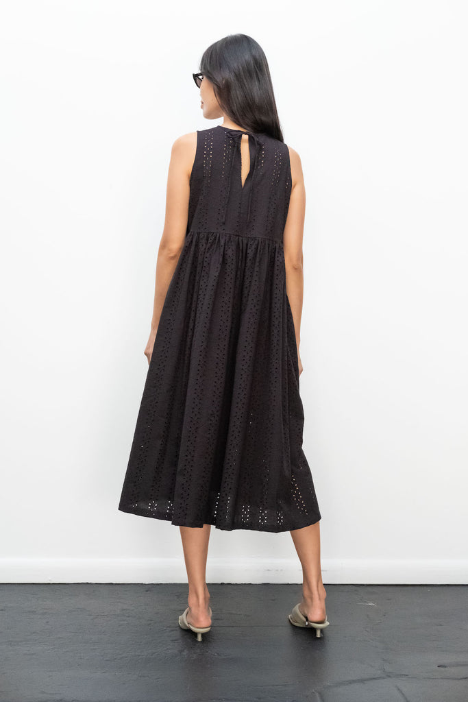 Kurt Lyle x Toit Volant Leora Dress in Black Embroidered Eyelet