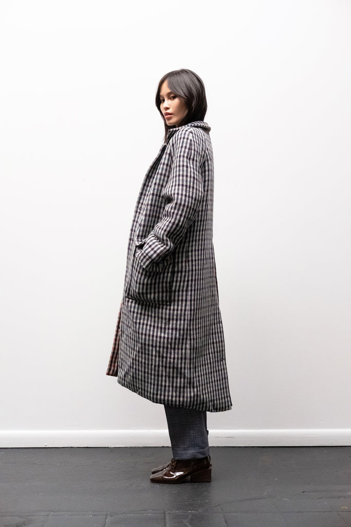 Loretta Coat in 2-Tone Check