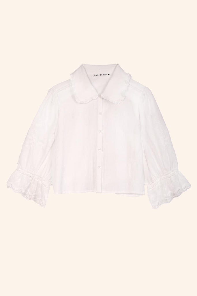 MEADOWS DAHLIA SHIRT IN WHITE