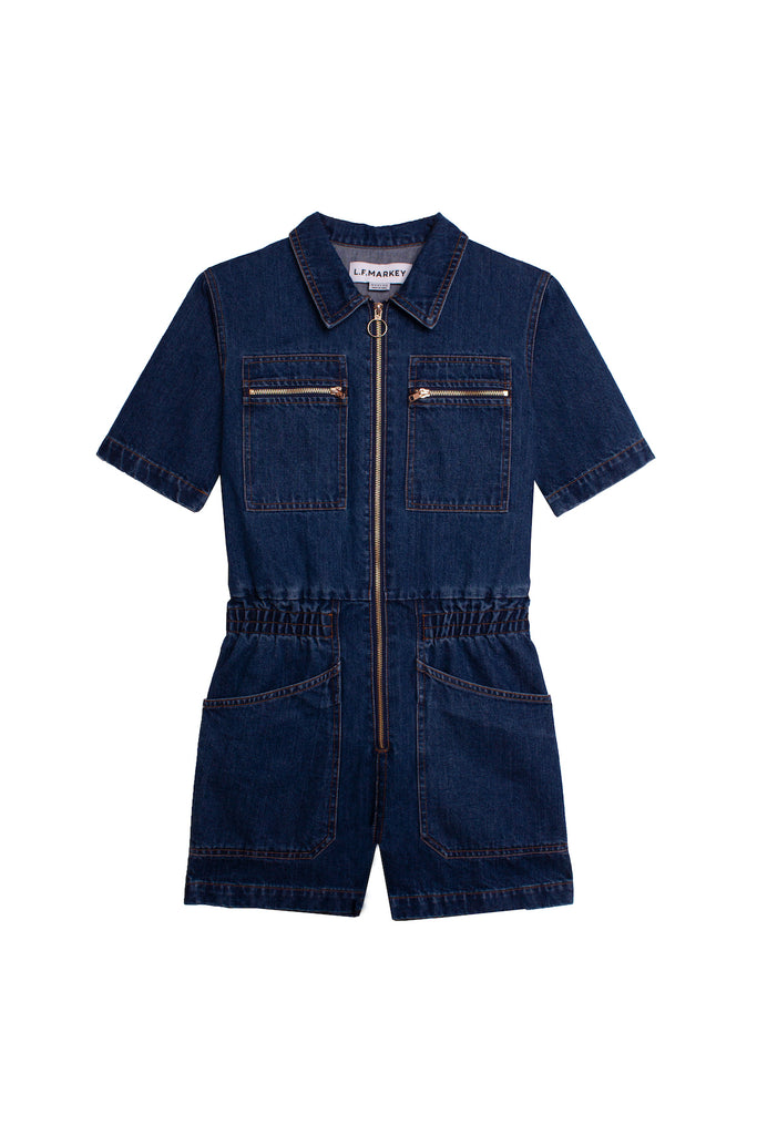 LF Markey Danny Playsuit in Denim