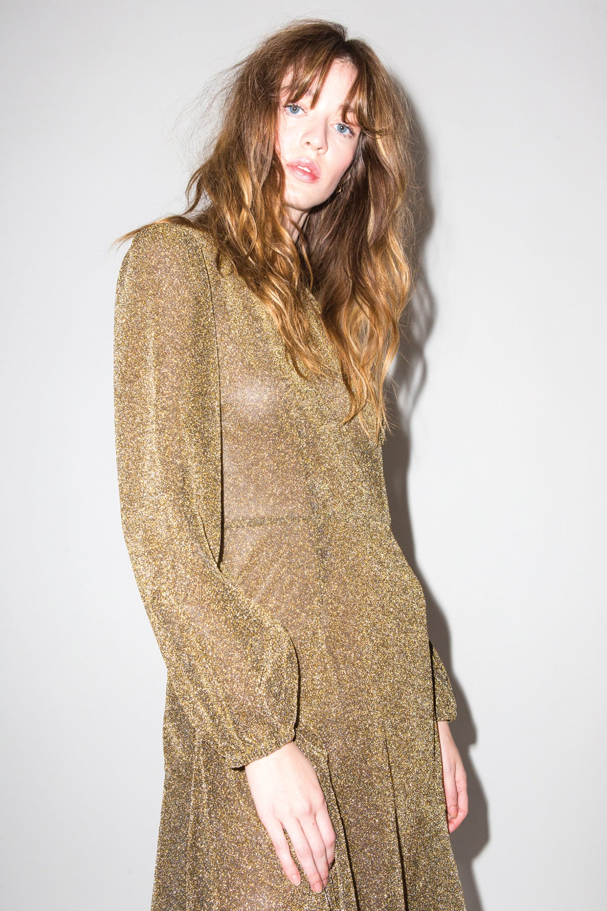 Haley Dress in Gold