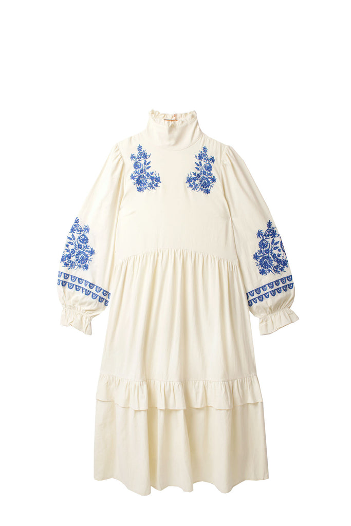 Meadows Lucerne Dress in White Embroidery