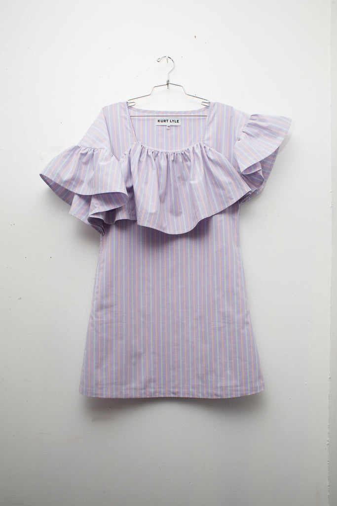 EDITE DRESS in Lilac Stripe