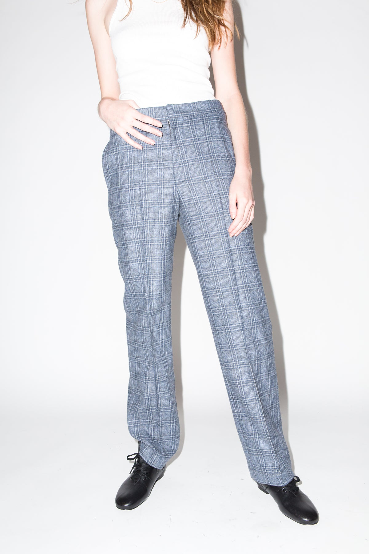 Nancy Trousers in Grey Plaid