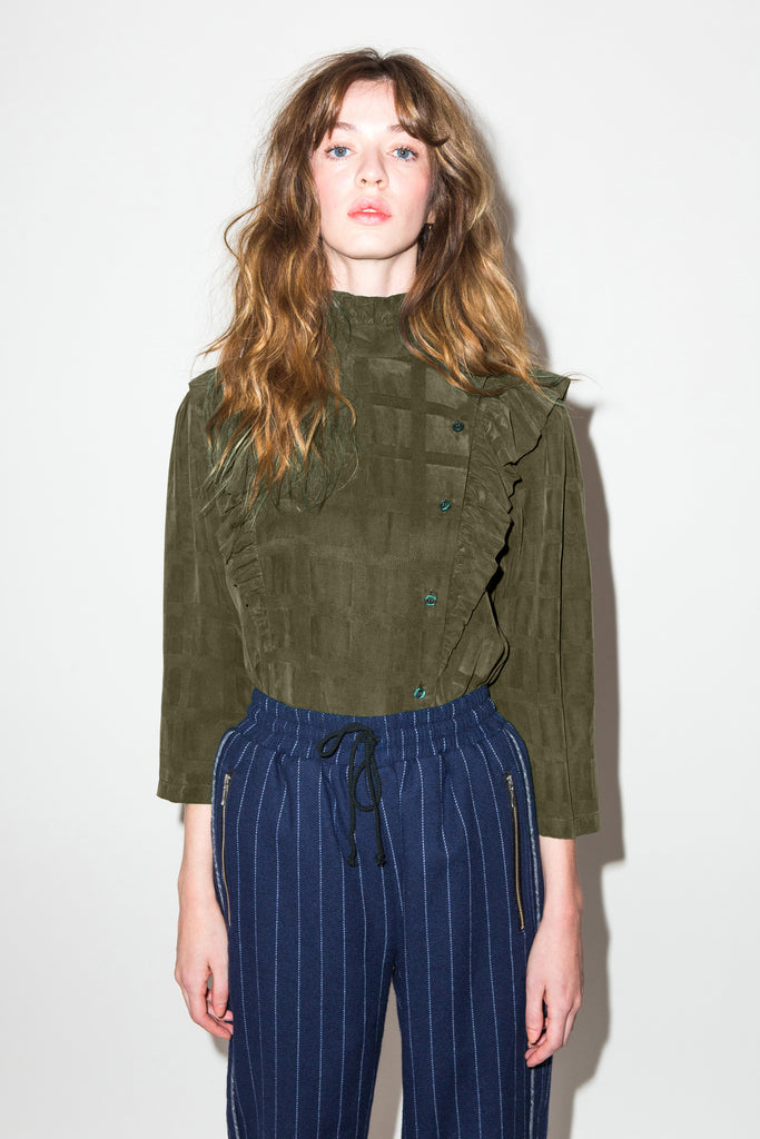 EXCLUSIVE Roma Blouse in Olive