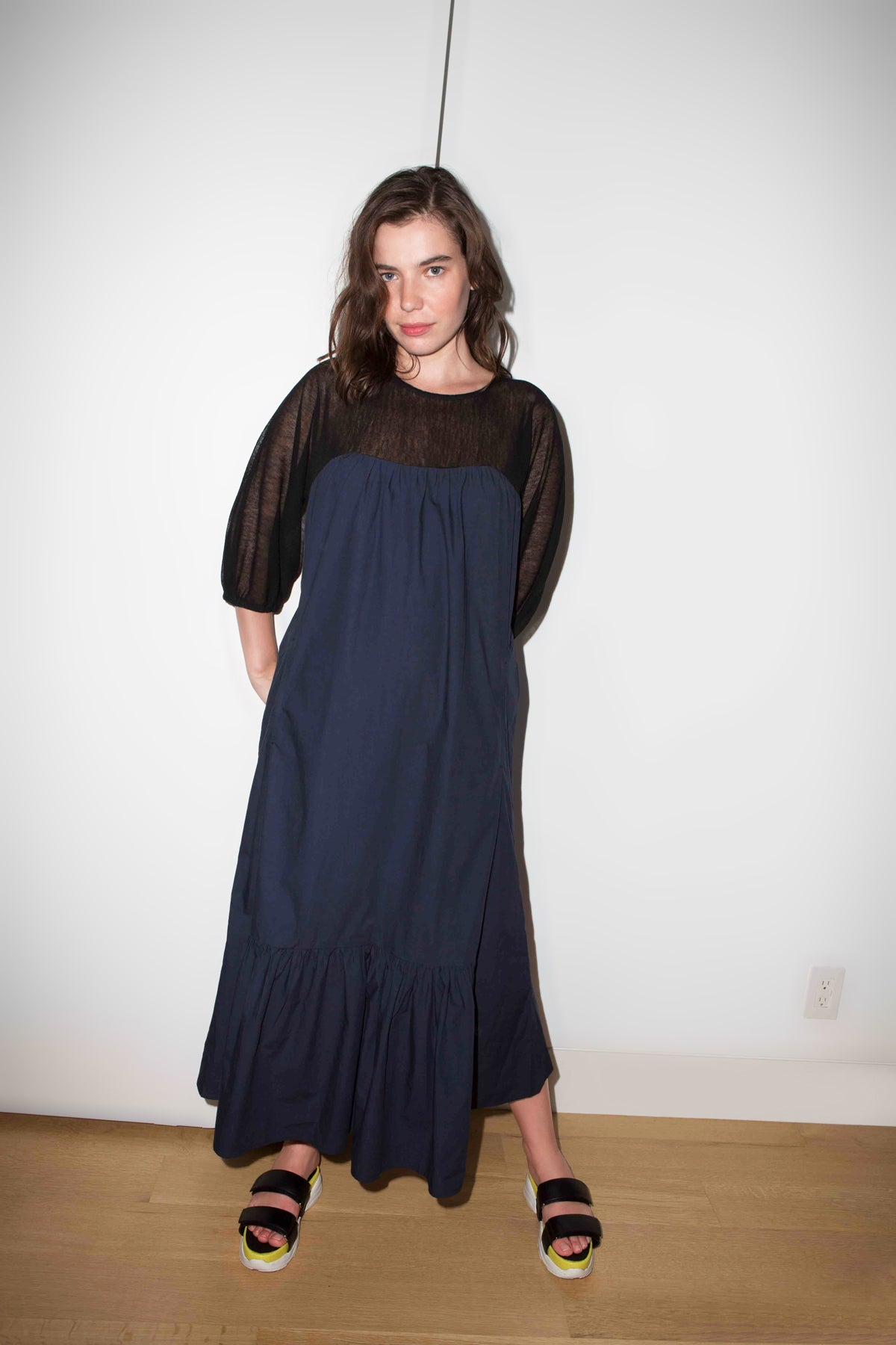 PAREA DRESS in Navy