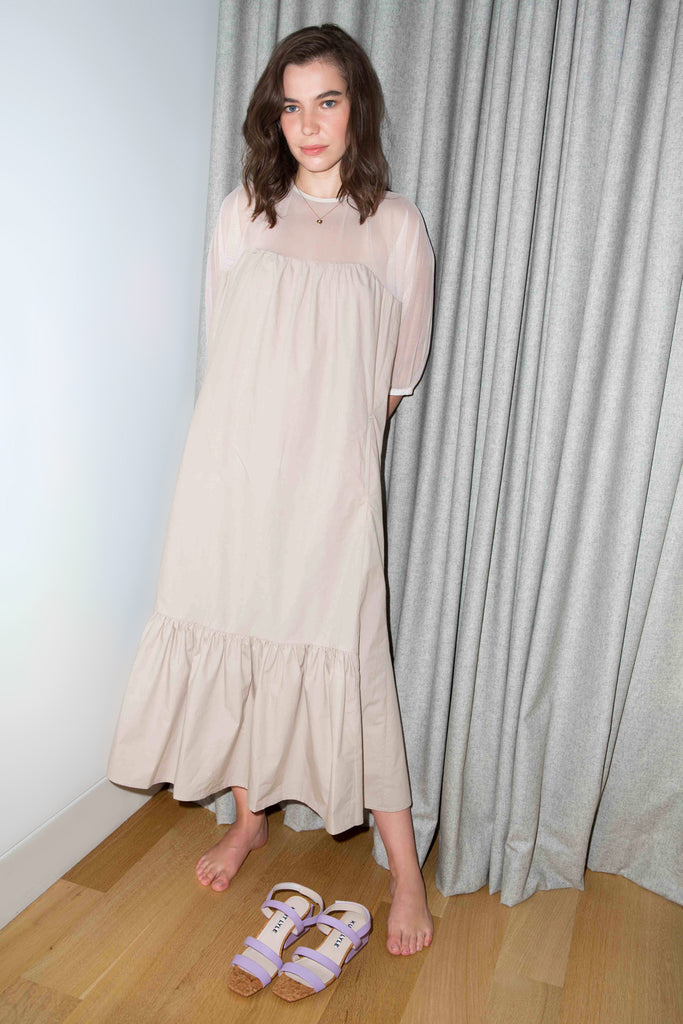 PAREA DRESS in PUTTY
