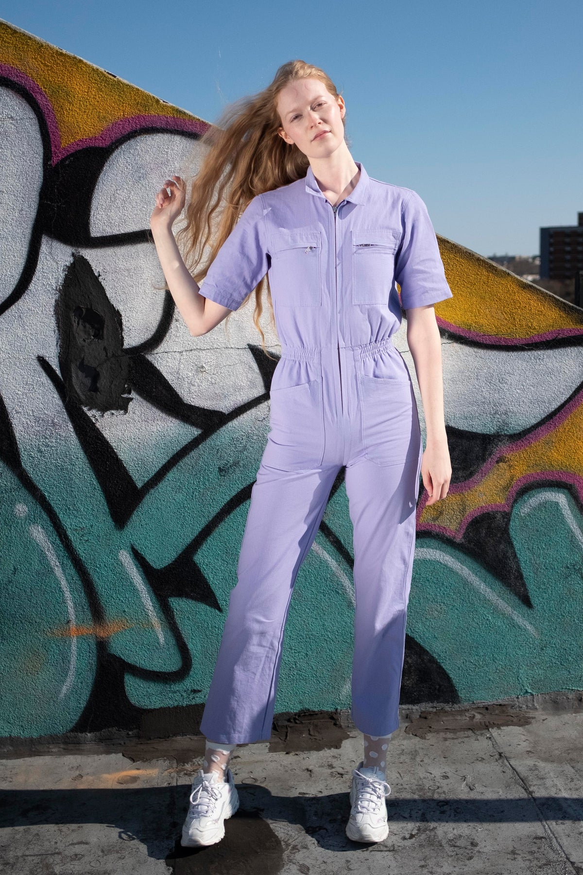 LF MARKEY DANNY BOILERSUIT IN LILAC