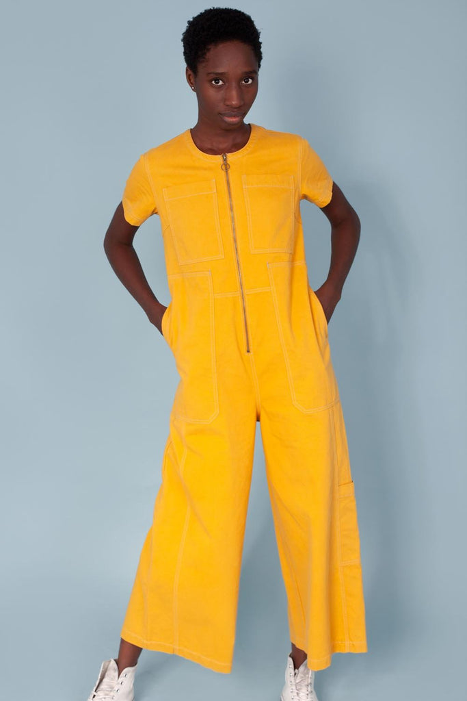 LF MARKEY FELIX BOILERSUIT IN SAFFRON