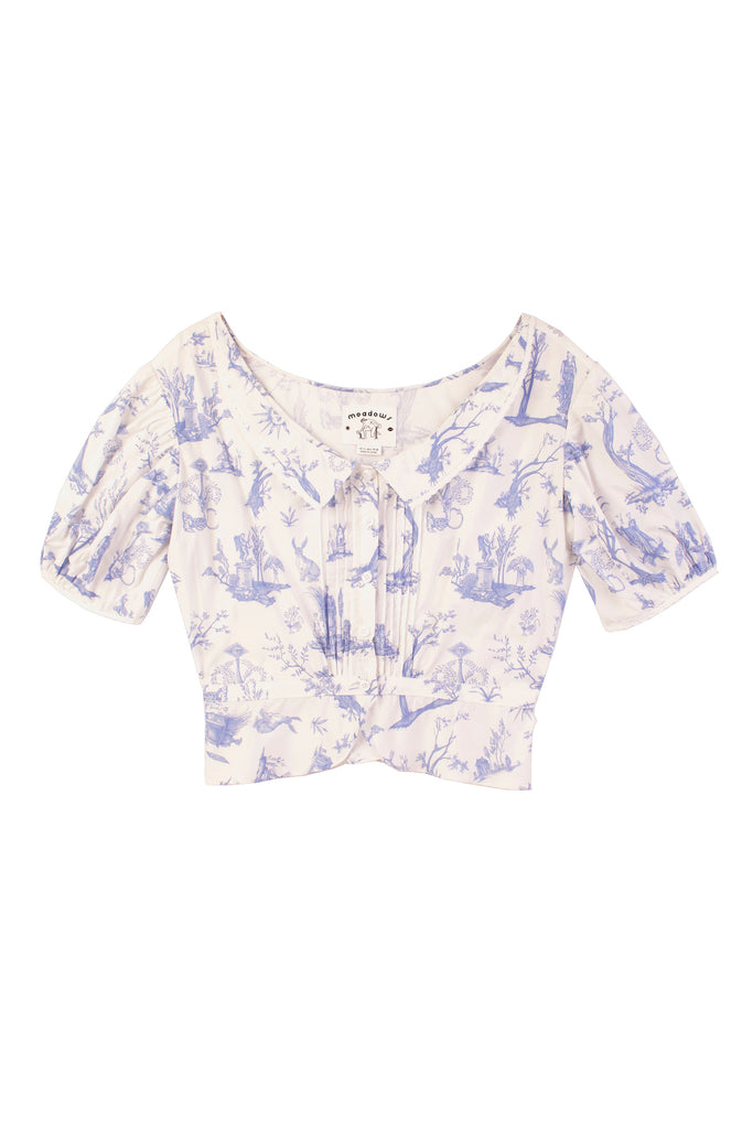 Meadows Mallow Top in Toile de Jouy