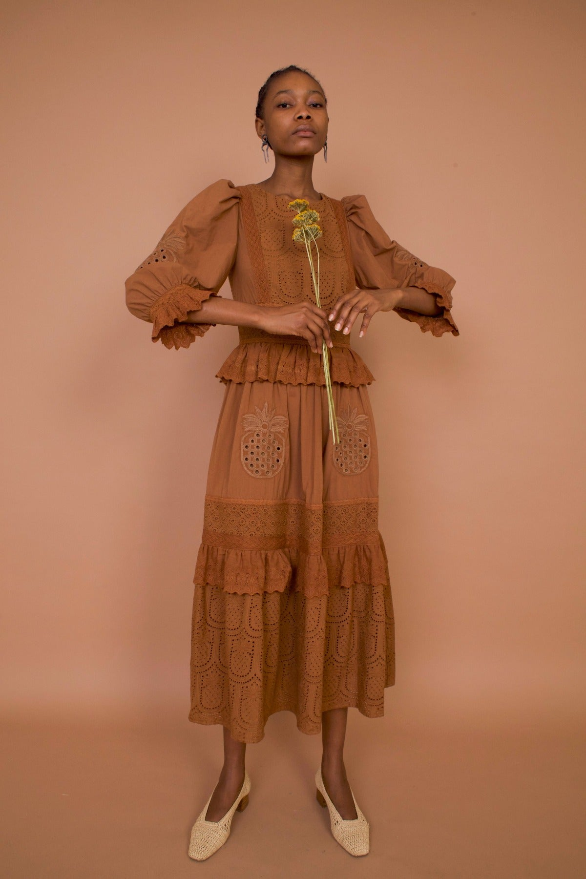Meadows Pineapple Dress in Terracotta