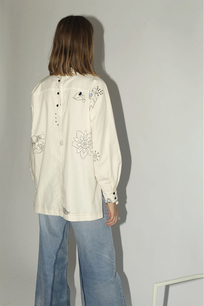 Mr. Larkin Embroidered Rainey Shirt