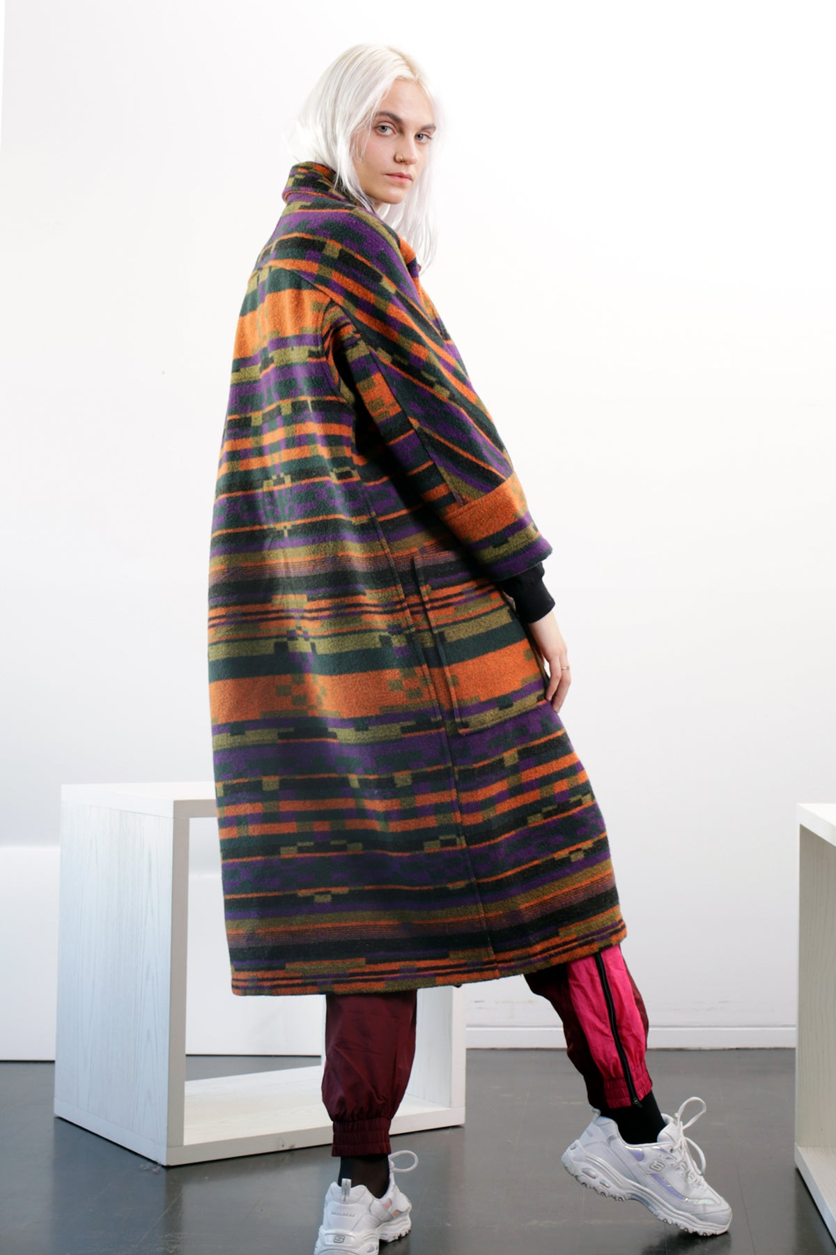 SINGLES Santa Fe Long Wool Coat