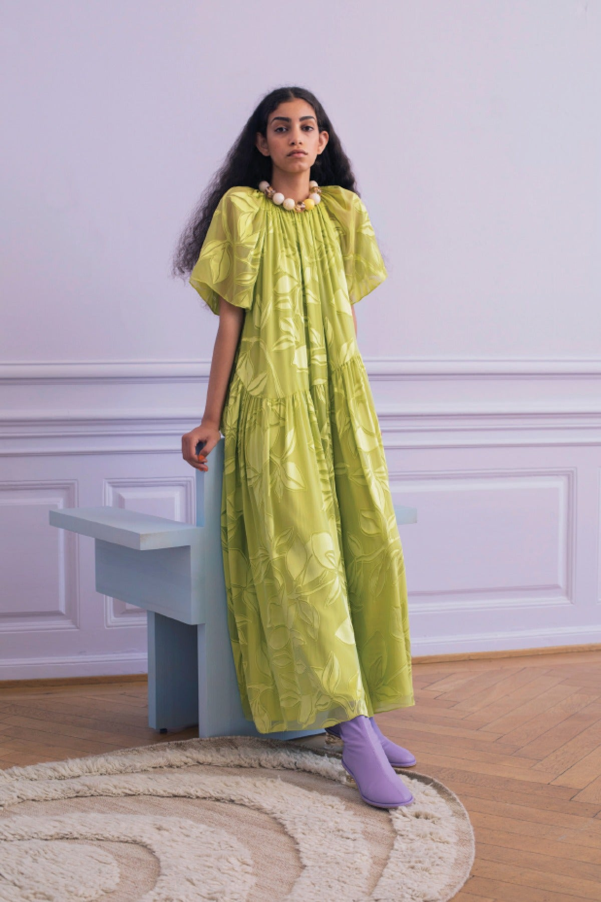 Stine Goya Addyson Dress in Lemon