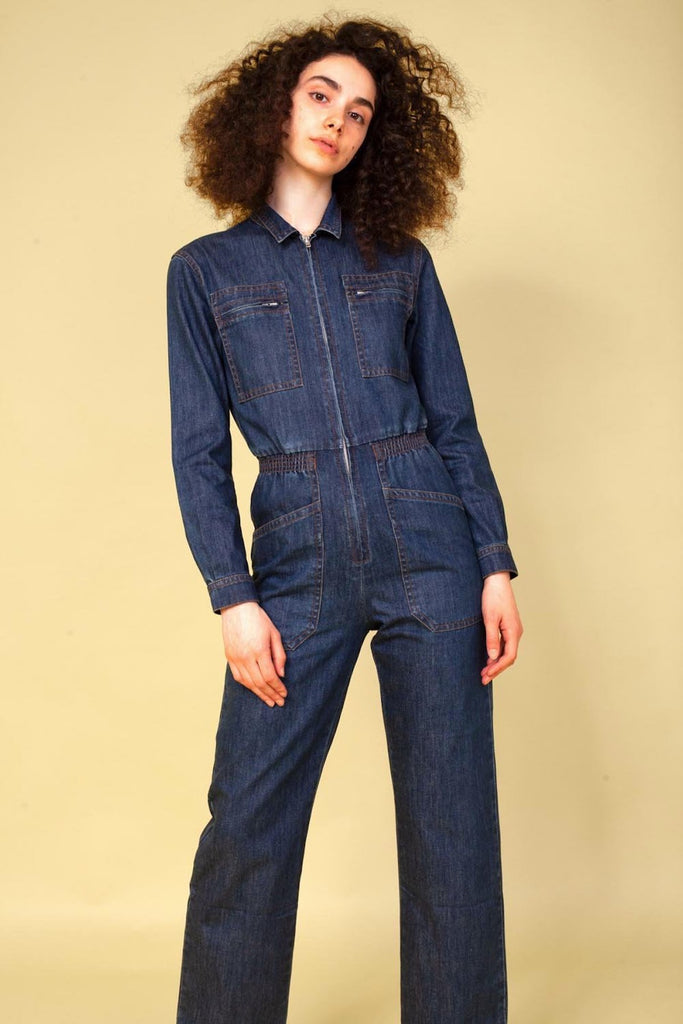 LF Markey Danny Boilersuit in Indigo Denim