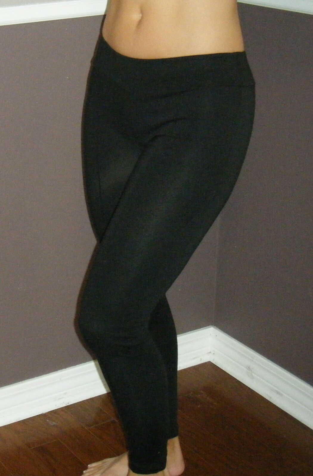 Sexy Low Rise Leggings Stretch Yoga Lounge Ankle Pants Gym Workout Black S/M/L