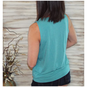 Very Sexy Pleated Scoop Neck Sleeveless Halter Banded Tank Cami Top Mint S/M/L/XL