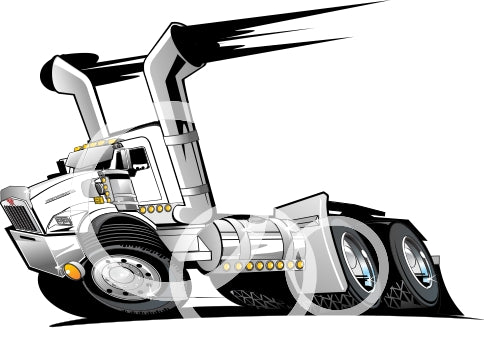 KW DAY CAB T800 Tandem  PDf Clip Art Vector File  Download