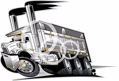 KW T800 Custom Dump Truck  PDF Vector file  Down Load