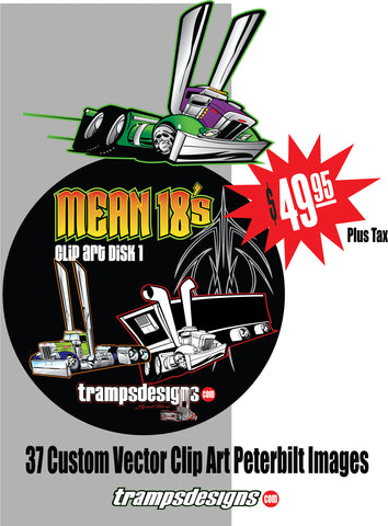MEAN 18  Digital Peterbilt Truck Toons