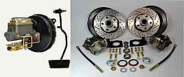 1967 Ford Mustang Front Disc Brake Conversion Kit Drilled And Slotted Dust Shields - Source Automotive Engineering