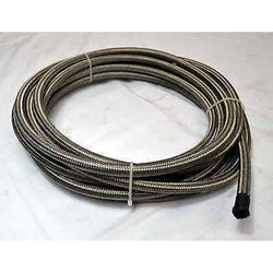 -6 An Stainless Steel Braided Hose Rubber Core 5 FT. Length - Source Automotive Engineering