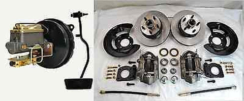 1967 Ford Mustang Front Disc Brake Conversion Kit Booster Master Pedal - SAE-Speed