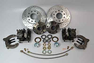 Mustang II Front Brake Kit Drilled And Slotted Dual Lug Pattern - SAE-Speed
