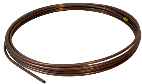 "Copper Nickel Fuel Line Tubing  1/4"" 25 FT. Roll Trans Fuel Bends & Flares Easy - SAE-Speed"