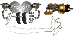 "1955-1957 Chevrolet Front Disc Brake Conversion 2"" Drop 7"" Dual Diaphragm Booster - Source Automotive Engineering"