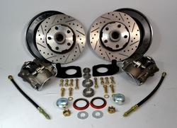 1964 1965 1966 1967 Ford Mustang Front Disc Brake Conversion Kit W/ Dust Shields - SAE-Speed