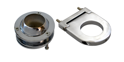 "Universal 2"" Swivel Base Floor Mount & 2 1/2"" Chrome Steering Column Drop Kit - Source Automotive Engineering"
