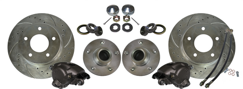 Chevrolet C10 Disc Brake Floating Rotors Hub Calipers Fits Aftermarket Spindles 5X5 - SAE-Speed