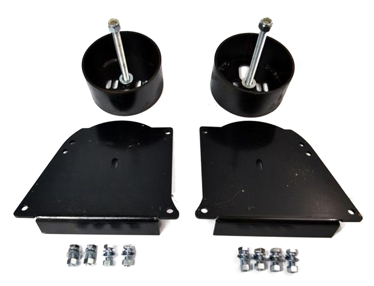 63-87 Chevy C10 Front Air Ride Suspension Lower Bracket Cups For Deep Drop Bags