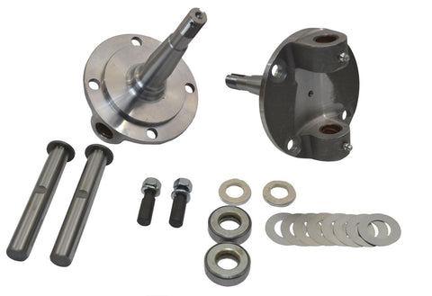 1928-1948 Ford Straight Axle Round Spindle with King Pin Kit Bushings Installed - SAE-Speed