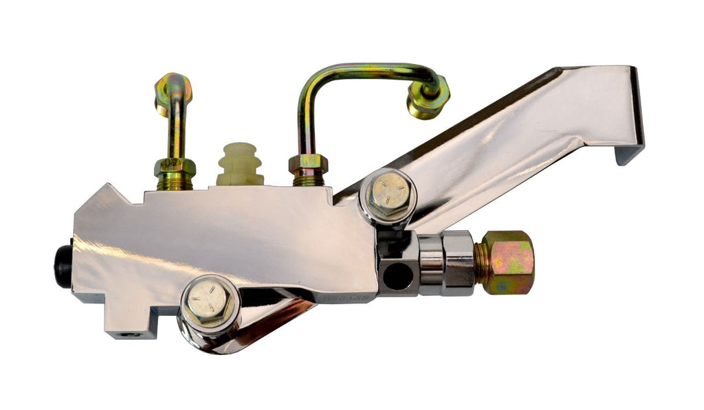Chrome GM Proportioning Valve Gold Lines Chrome Bracket Disc/Drum Kit - Source Automotive Engineering