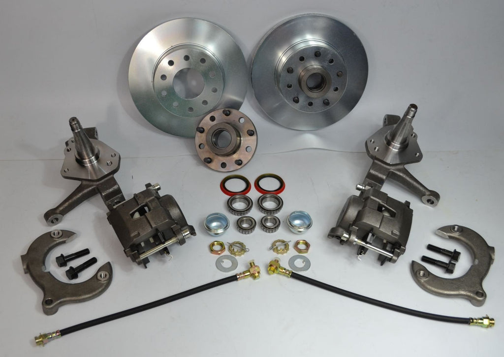 "Mustang II Front Brake Kit 11"" Rotors Dual 5X4.5"" 5X4.75"" Bolt Pattern - Source Automotive Engineering"