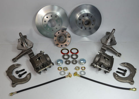 "Mustang II Front Brake Kit 11"" Rotors Dual 5X4.5"" 5X4.75"" Bolt Pattern - SAE-Speed"