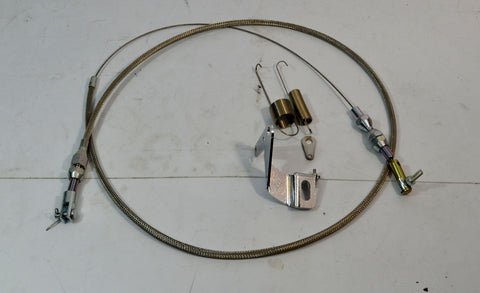 "36"" SBC Throttle Cable Stainless Braided With Bracket And Springs - Source Automotive Engineering"
