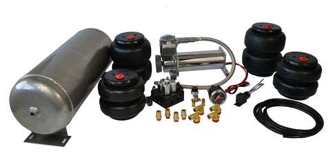 Air Bags Suspension >> Buy 4 Corner Air Bag Suspension Kit Two Way Manifold Dual Needle Gauge At Sae Speed For Only 422 99