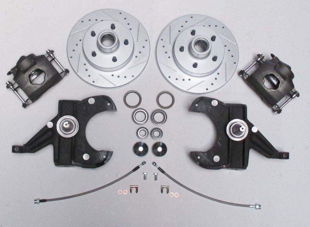 Chevrolet GM C10 C15 Truck 1963-72 Disc Brake And Air Ride Kit Drop Spindles 5 Lug - SAE-Speed
