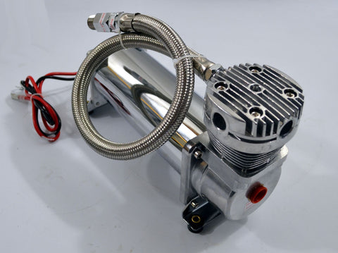Air Compressor Chrome For Air Horn Or Air Bag Suspension 165psi ON - 200psi OFF - Source Automotive Engineering