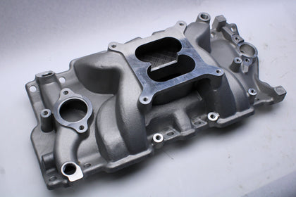 Small Block Chevy Intake Manifold Dual Plane Powder Coated AVENGER - SAE-Speed