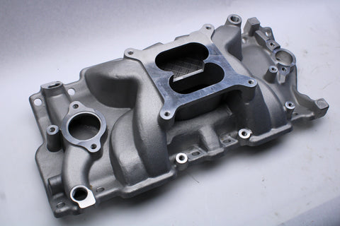 Small Block Chevy Intake Manifold Dual Plane Powder Coated AVENGER - Source Automotive Engineering