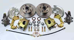 "GM Camaro Chevelle Nova Front Disc Brake Kit Conversion 2"" Drop Spindle A F X Body - SAE-Speed"